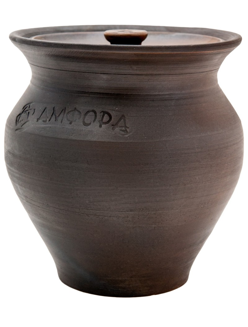 Чугунок 2л керамический с крышкой